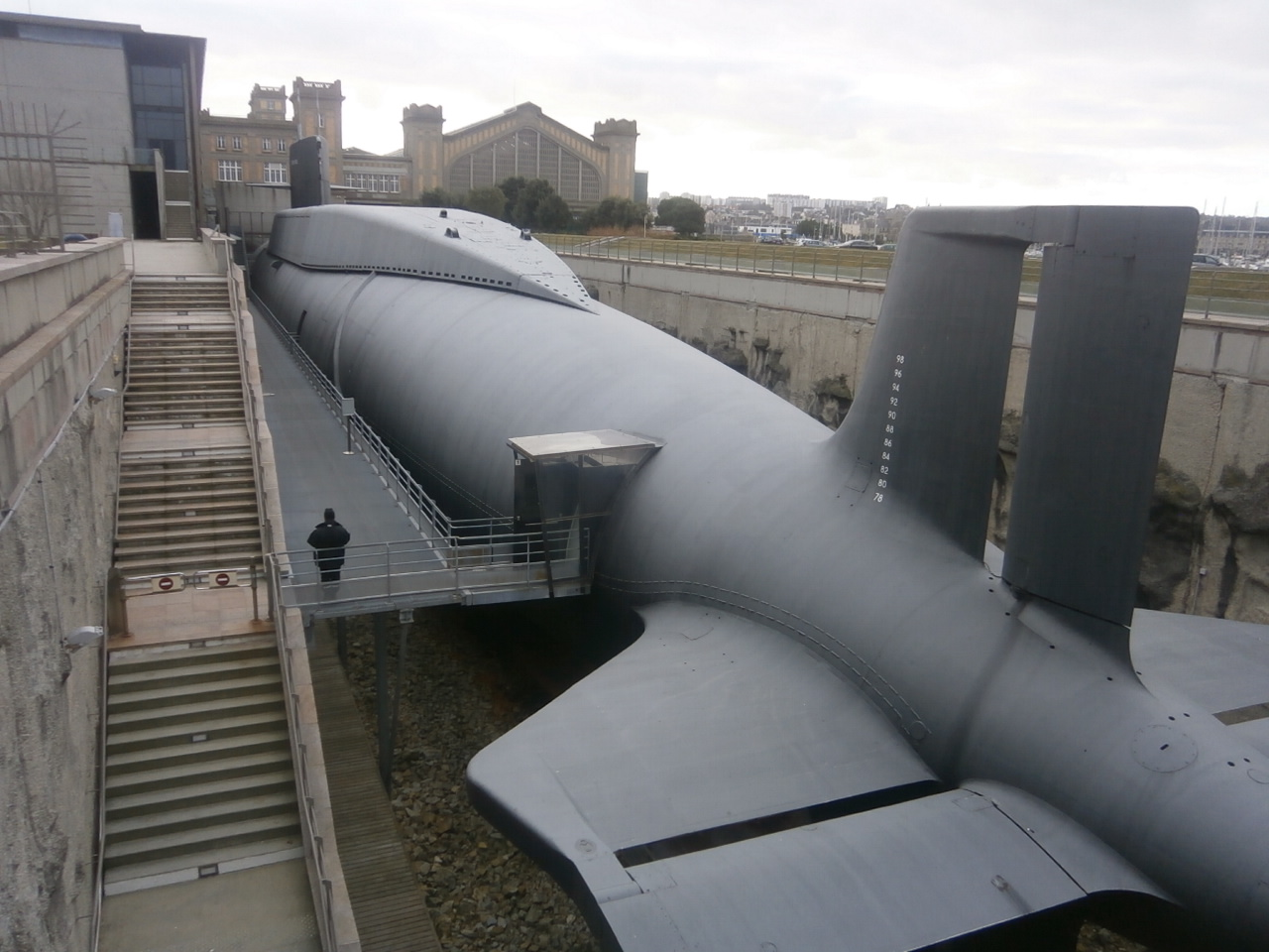 Sous-marin le Redoutable, Cherbourg